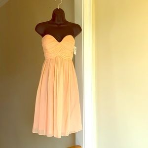 DONNA MORGAN sz 2 NWT peach silk strapless dress